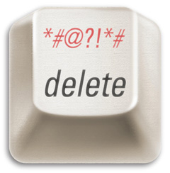 Image of  delete key from Robert Sutton book