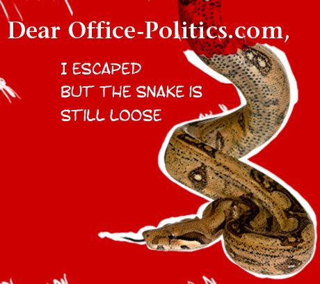 Dear OP text illustration by Franke James, MFA.; snake  ©istockphoto.com/Eric Isselée