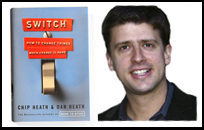 Switch book by Chip Heath and Dan Heath, photo of Dan Heath