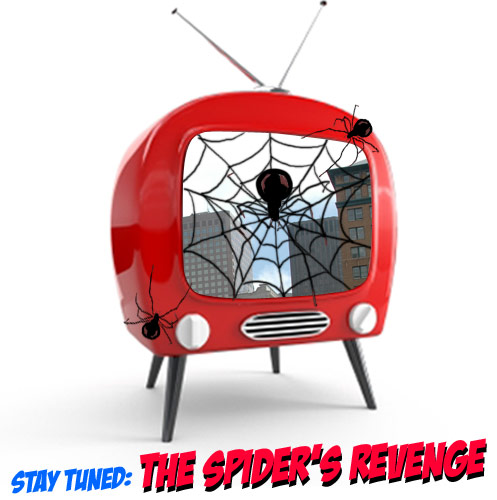 spider, web, city, headline photo-illustration by franke james; Photo of red TV ©iStockphoto.com/Androsov Konstantin