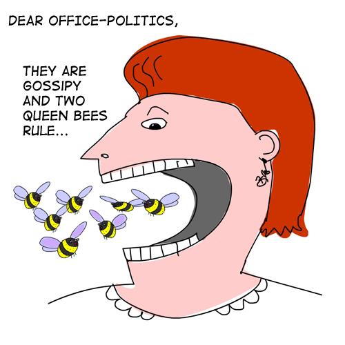 Bee lady drawing © Franke James, MFA.