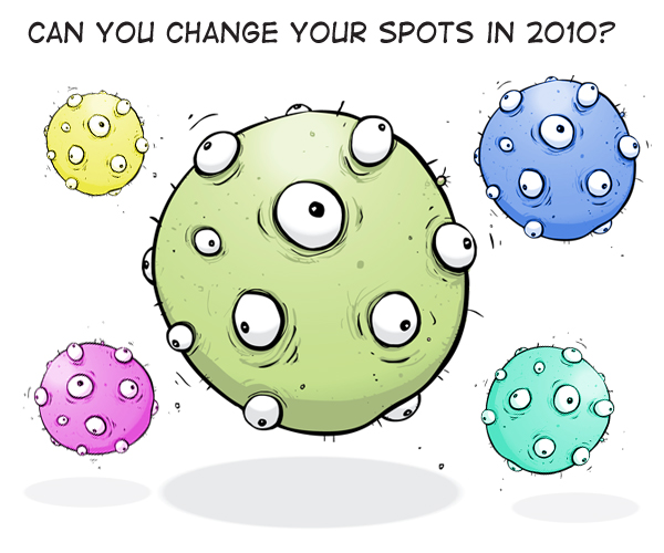 Change Spots collage by Franke James using istockphoto/MisterM virus drawing
