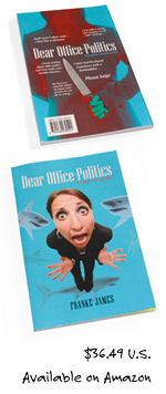 Inside layout sample: Back of Dear Office-Politics game book
