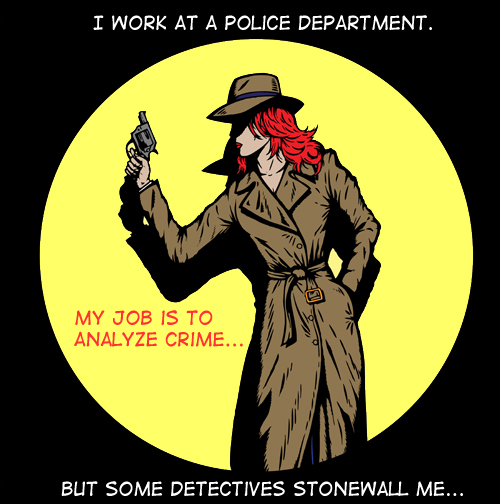 Headline by Franke James; Detective illustration ©istockphoto.com/DanielVilleneuve