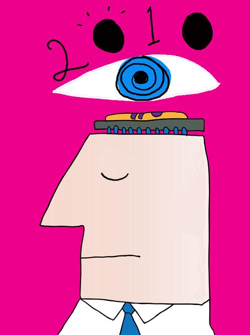 illustration 2010 eye by Franke James; head ©istockphoto.com /mirekp