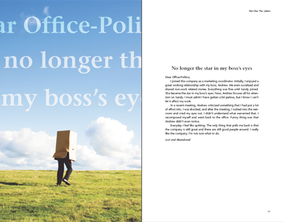 Inside layout sample: Dear Office-Politics game book